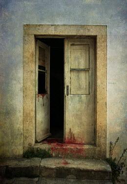 Jaroslaw Blaminsky SHABBY DOOR WITH BLOOD STAINS Building Detail