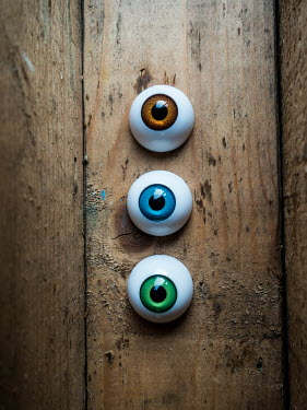 Mohamad Itani ARTIFICIAL EYEBALLS ON WOODEN SURFACE Miscellaneous Objects