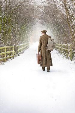 Lee Avison WARTIME MAN WALKING IN SNOW Men