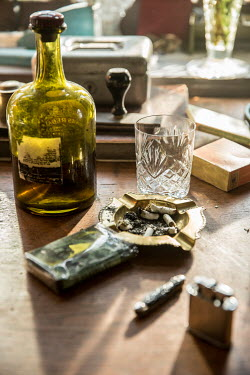 Colin Hutton TABELT WITH ASHTRAY AND BOTTLE Miscellaneous Objects