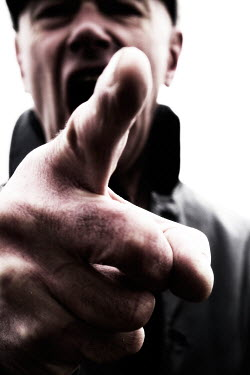 Tim Robinson MAN SHOUTING AND POINTING FINGER Men