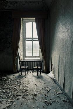 Eva Van Oosten DILAPIDATED GRAND ROOM WITH CHAIRS Interiors/Rooms