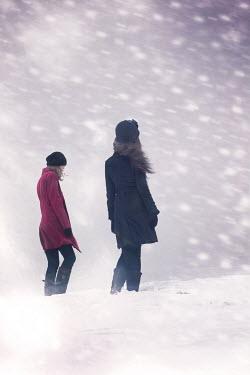 Elisabeth Ansley TWO WOMEN STOOD IN SNOW Women