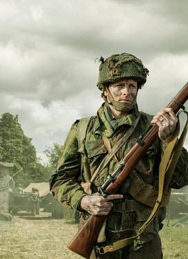 Stephen Mulcahey SOLDIER ARMY MAN WITH GUN Men