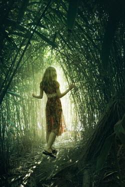 ILINA SIMEONOVA YOUNG WOMAN WALKING IN FOREST Women