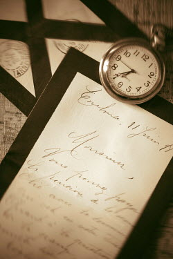 Ebru Sidar OLD LETTERS AND POCKET WATCH Miscellaneous Objects