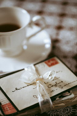 Ebru Sidar HAND WRITTEN LETTERS AND TEA CUP Miscellaneous Objects