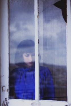 Anna Rakhvalova YOUNG WOMAN BEHIND WINDOW Women