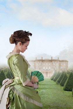 Lee Avison beautiful victorian woman in the grounds of a mansion Women