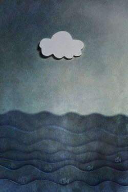 Catherine Macbride PAPER MODEL OF CLOUD AND SEA Miscellaneous Objects