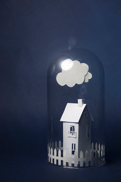 Catherine Macbride PAPER HOUSE AND CLOUD UNDER DOME Miscellaneous Objects