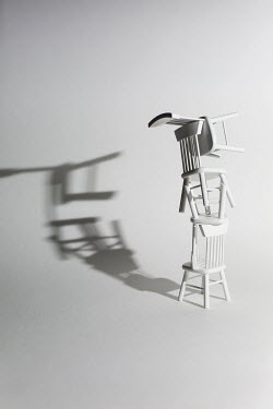 Catherine Macbride CHAIRS PILED UP CASTING SHADOWS Miscellaneous Objects