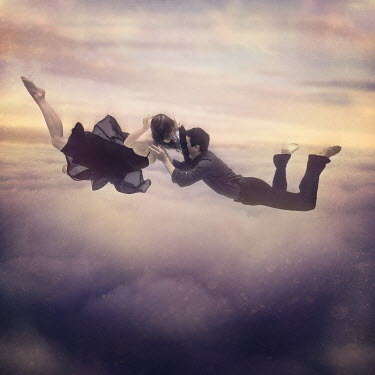 Leigh Bishop Eros SURREAL COUPLE FALLING THROUGH SKY Couples