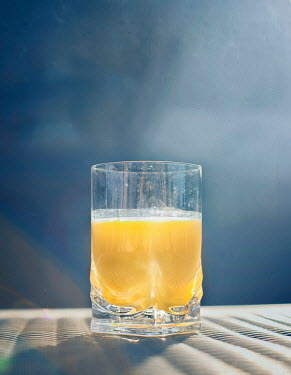 Mary Schannen GLASS OF ORANGE JUICE OUTSIDE Miscellaneous Objects