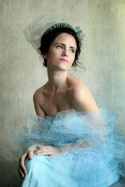 Katerina Lomonosov DARK HAIRED WOMAN IN HEADDRESS Women