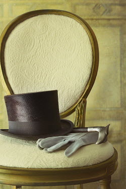Sandra Cunningham TOP HAT AND GLOVES ON CHAIR Miscellaneous Objects