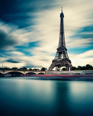 David Keochkerian SPEEDING TRAIN PAST EIFFEL TOWER Miscellaneous Cities/Towns