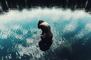Sandra Scherer NUDE WOMAN BATHING IN LAKE WATER Women