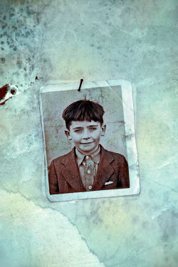Paul Knight VINTAGE PHOTO OF BOY PINNED UP Miscellaneous Objects