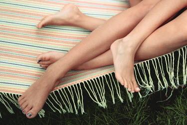 Anna Rakhvalova CLOSE UP OF TWO WOMENS LEGS OUTSIDE Body Detail