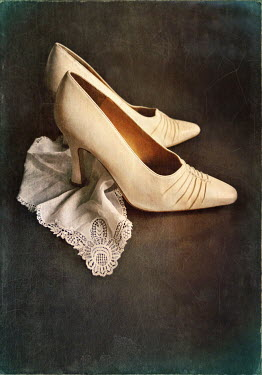 Lyn Randle VINTAGE HIGH HEELS AND DOILY Miscellaneous Objects
