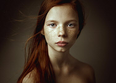 Dmitry Ageev FRECKLED WOMAN WITH BARE SHOULDERS Women
