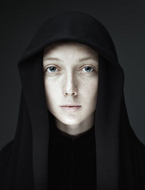 Dmitry Ageev YOUNG WOMAN IN HOODED CAPE Women