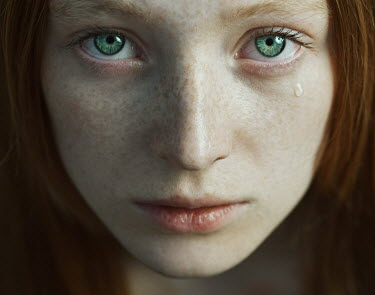 Dmitry Ageev SAD YOUNG WOMAN WITH GREEN EYES CRYING Women