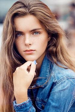 Nina Masic MODERN TEEN WOMAN IN DENIM OUTSIDE Women