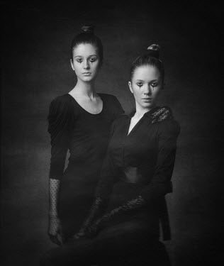 Dmitry Ageev TWO YOUNG WOMEN IN GOTHIC CLOTHING Groups/Crowds