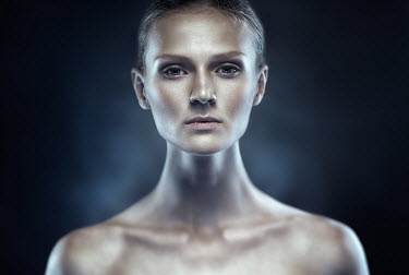 Dmitry Ageev CLOSE UP OF SHINY WOMAN INDOORS Women