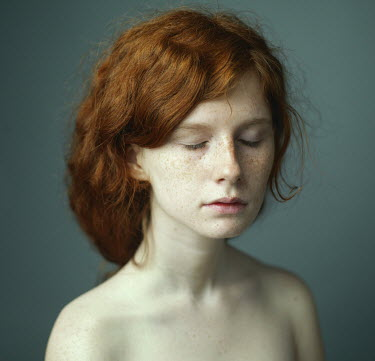 Dmitry Ageev RED HAIRED GIRL WITH EYES CLOSED Women