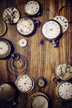 Miguel Sobreira CLOSE UP OF ANTIQUE BROKEN WATCHES Miscellaneous Objects