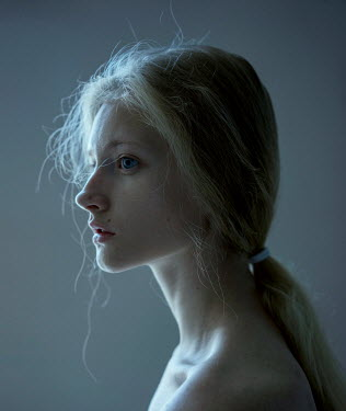 Dmitry Ageev YOUNG BLONDE WOMAN WITH BARE SHOULDERS Women