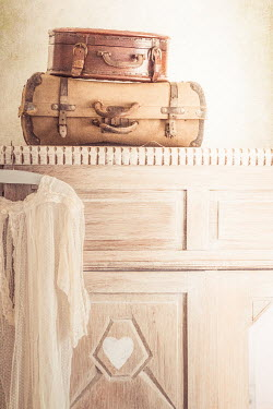 Elly De Vries SUITCASES ON CUPBOARD Miscellaneous Objects