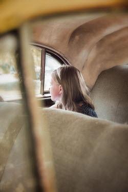 Elisabeth Ansley YOUNG BLONDE GIRL INSIDE CAR Children