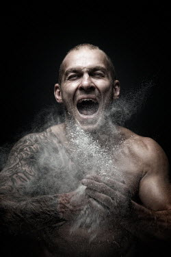 Sylwia Makris ANGRY MUSCULAR MAN SHOUTING Men