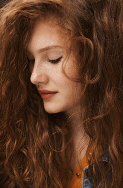 Nina Masic YOUNG WOMAN WITH LONG RED HAIR Women