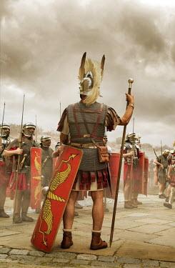 Stephen Mulcahey Roman commander orders his troops Groups/Crowds