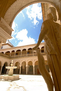 Michael Trevillion FOUNTAIN AND STATUE IN COURTYARD Miscellaneous Buildings