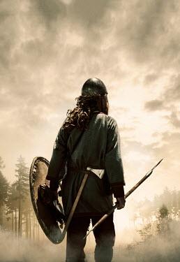 Stephen Mulcahey HISTORIC VIKING SOLDIER IN MISTY FOREST Men