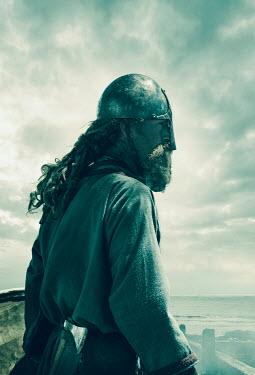 Stephen Mulcahey ANCIENT VIKING WARRIOR NEAR STORMY SEA Men