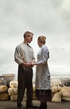 CollaborationJS HISTORICAL WW1 COUPLE NEXT TO SANDBAGS Couples