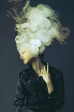 Josephine Cardin SURREAL YOUNG WOMAN WITH SMOKE IN HAIR Women