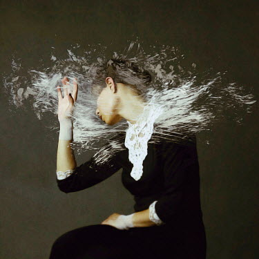 Josephine Cardin PAINT THROWN OVER YOUNG WOMAN Women