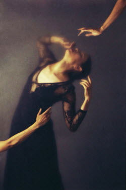 Josephine Cardin HANDS REACHING FOR DISTRESSED WOMAN Women