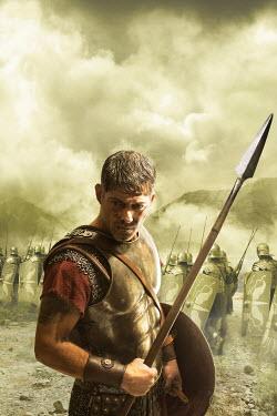 Nik Keevil ANCIENT ROMAN SOLDIER IN BATTLEFIELD Men