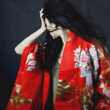 Josephine Cardin YOUNG ASIAN WOMAN IN RED KIMONO Women