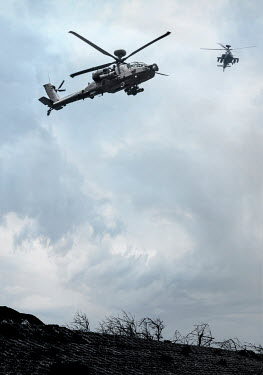 CollaborationJS two hovering Boeing AH-64 Apache helicopters Miscellaneous Transport