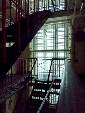 Stephen Mulcahey STAIRS IN OLD VICTORIAN PRISON Interiors/Rooms